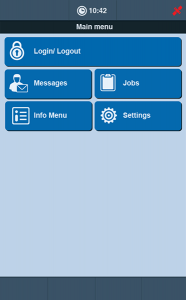 TISLOG mobile - Software Dialog Main Menu |TIS GmbH