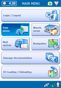 TISLOG Logistik-Software Main Menu |TIS GmbH