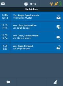 TISLOG Logistiksoftware und Logistik App Nachrichten-Dialog | TIS GmbH