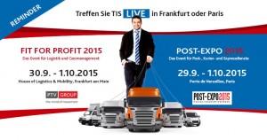 TIS GmbH auf der Fit For Profit und Post-Expo 2015