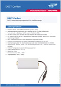 Logistik Hardware Produktdatenblatt DECT Carbox Downloadvorschau