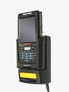TISPLUS Hardware Zubehör für die Logistik: Fahrzeughalterung für Honeywell Dolphin 7800 Halbprofil