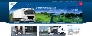 Neuer Webauftritt des Telematikanbieters TIS GmbH