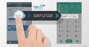 Einfach Rufnummern übernehmen mit TISLOG Logistik-Software