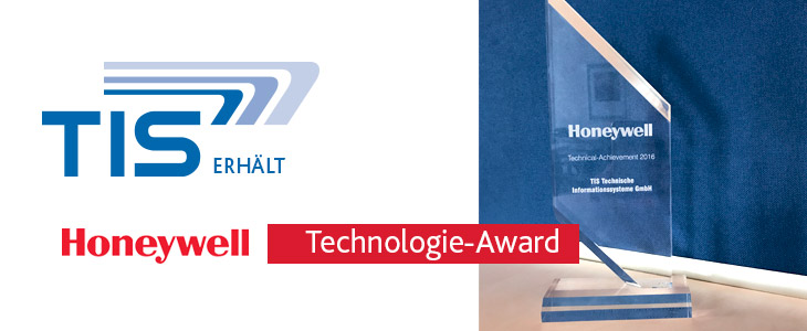 Honeywell Technical-Achievement 2016 Award für die TIS GmbH