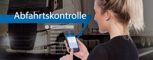 Android App der TIS GmbH für die digitale Abfahrtkontrolle für LKW