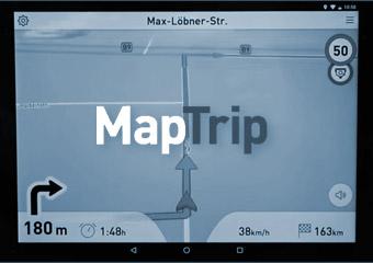 tisware software infoware maptrip app zur lkw navigation. Black Bedroom Furniture Sets. Home Design Ideas