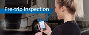Android App of the TIS GmbH for the digital pre-trip inspection for trucks