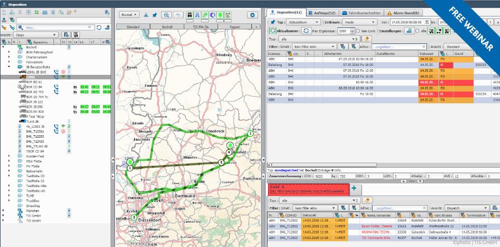 TIS GmbH Webinar Tour Planning