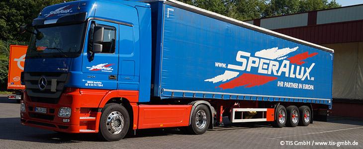 Pressemitteilung telematicbox Truck bei Speralux