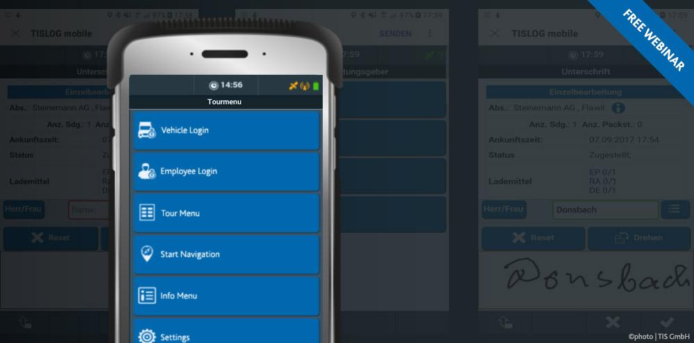 Free Webinars of TIS GmbH | TISLOG mobile Smart