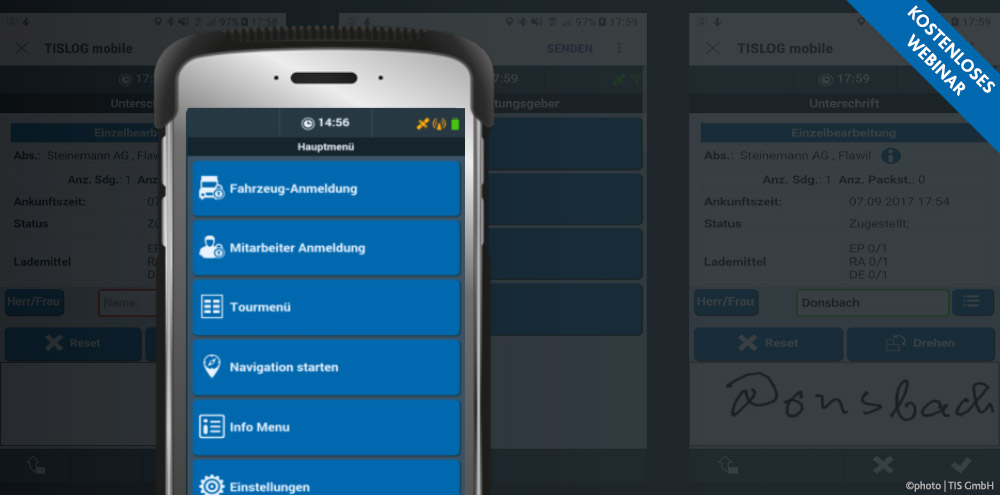Kostenlose Webinare der TIS GmbH | TISLOG mobile Smart