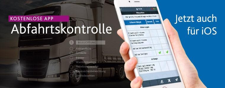 Kostenlose iOS App für die LKW-Abfahrtskontrolle