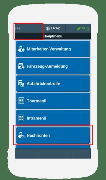 TISLOG Fahrermail   Hauptmenü