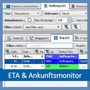 ETA und Ankunftsmonitor | TISLOG Telematiksoftware