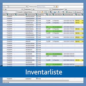 Inventarliste in der TISLOG Logistiksoftware
