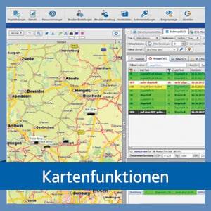 Kartenfunktionen in der TISLOG Logistiksoftware