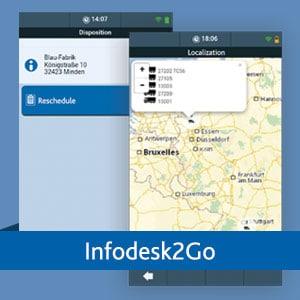 TISLOG Infodesk2Go | mobiles Infodesk Interface | Logistiksoftware