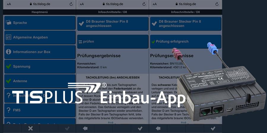 Einbau-App der TIS GmbH | telematicbox Truck