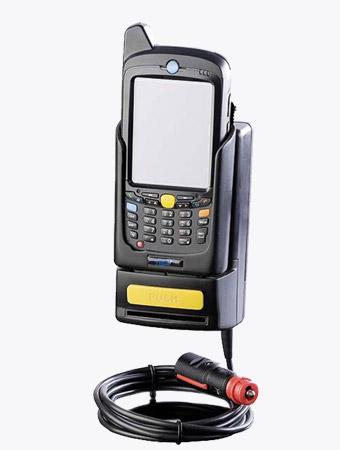TISPLUS Hardware Zubehör: Fahrzeughalterung für Zebra MC55/65/67 mit eingelegtem Handheld