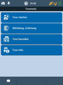 TISLOG mobile Enterprise - Software Dialog Tourmenü