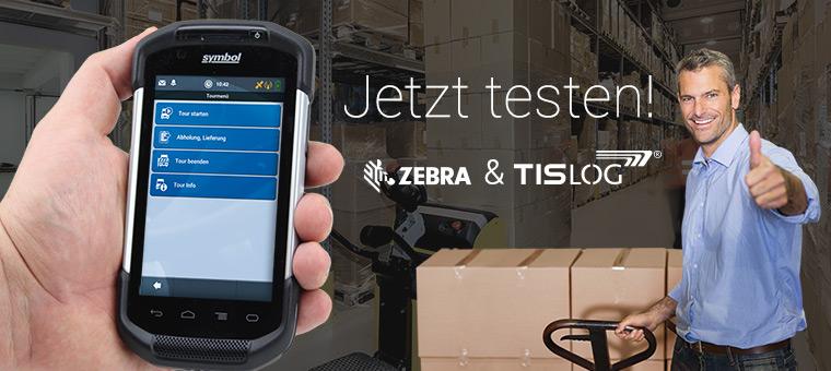 Testen Sie den Zebra TC75 Handheld mit TISLOG Logistik-Software